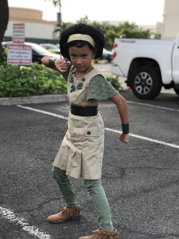 Sabine as Toph Beifong (of Team Avatar)