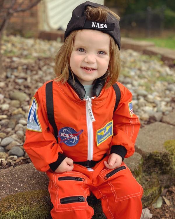 """I a astronaut!"" (Mazie the astronaut!)"