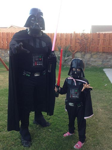 darth vader my beautiful mighty girl valentina and daddy may the force be with you happy halloween from a galaxy far far away - Halloween Darth Vader