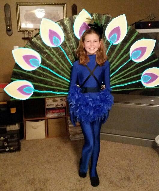 Peacock lights the night