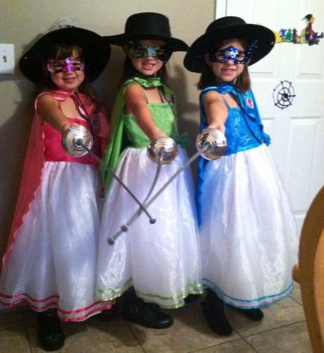 the three musketeers - Halloween Costumes Three Girls