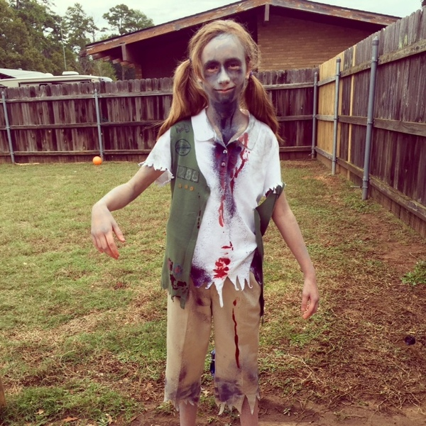 Zombie Girl Scout